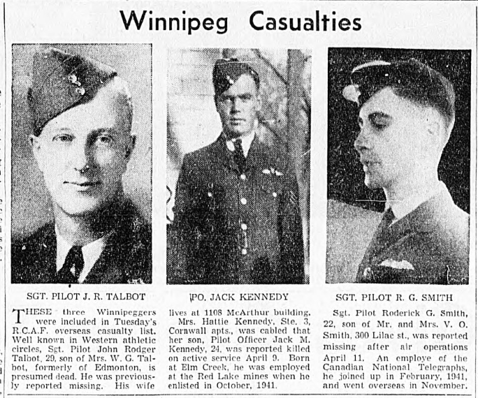 Newspaper Clipping– In memory of the men and women memorialized on the pages of the Winnipeg Evening Tribune. Submitted for the project, Operation: Picture Me