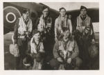 Group photo– G. Edmonds Crew #433 Squadron with their Halifax 111 LV-971 Code BM-N at Skipton on Swale Airfield February 1943. 