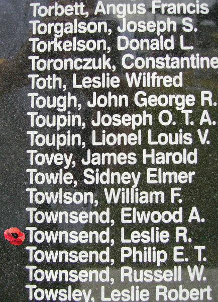 Leslie Robert Townsend The Canadian Virtual War Memorial Veterans Affairs Canada