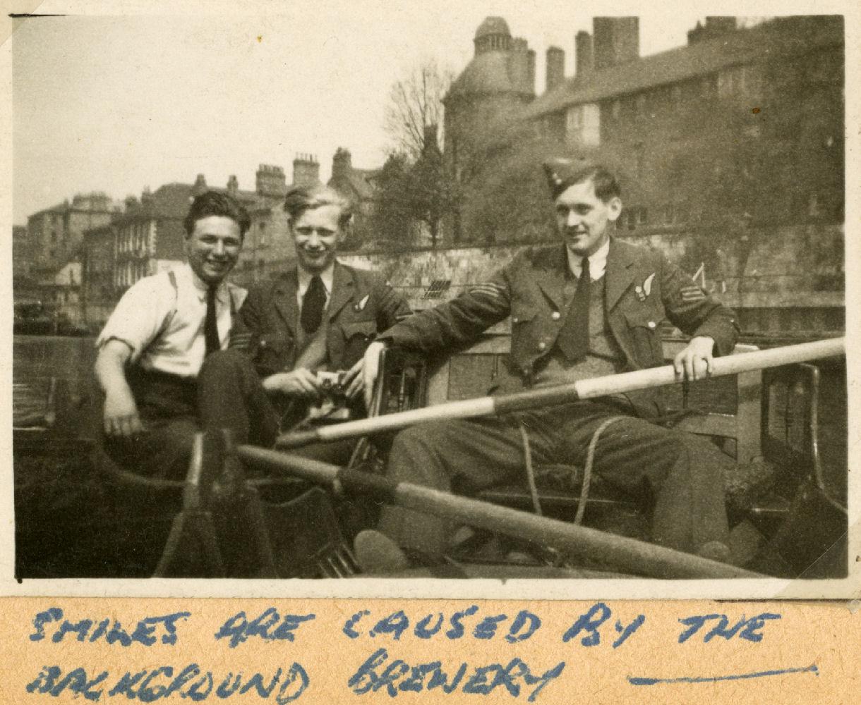 Photo de Groupe – Jack Imrie, David Scott et Harold Truscott.