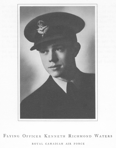 "Photo of KENNETH RICHMOND WATERS– From a book entitled ""Field of Honour"" published in 1950."