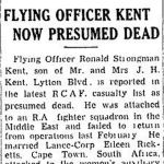 """Newspaper Clipping– TORONTO STAR """"Pages of the Past"""" online 1943, Sept 15"""