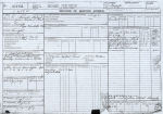 Document– Ron Kent's Record of Service Airman pg1. (Picture enchanced)  Source:Whitehouse via Library & Archives Canada