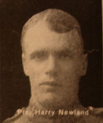Photo of Harry Newland– In memory of the men and women from the Waterloo area who went to war and did not come home. From the booklet, Peace Souvenir – Activities of Waterloo County in the Great War 1914 – 1918. From the Toronto Public Library collection.  Submitted for the project, Operation: Picture Me.