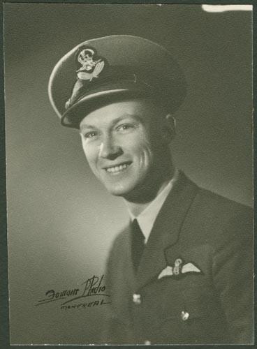 Photo of Edmund Leonard Easton– F/O Edmund Leonard Easton courtesy of McGill University Archives from their McGill Remembers website