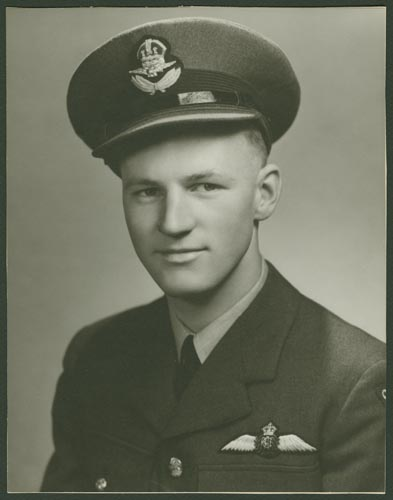 Photo of William Andrew Eden– Flying Officer William Andrew Eden courtesy McGill University archives