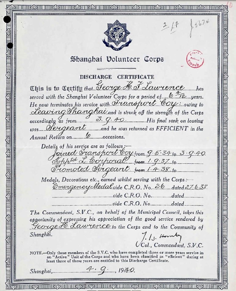 Discharge certificate– Submitted for the project Operation Picture Me