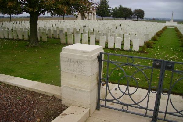 Cemetery– Entrance - Adanac Military Cemetery … photo courtesy of Marg Liessens