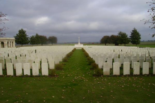Cemetery– Adanac Military Cemetery … photo courtesy of Marg Liessens