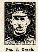 Newspaper Clipping– Pte. John Crook enlisted in Toronto's 83rd Battalion, C.E.F. on August 16th, 1915.  He was subsequently assigned to the  3rd Battalion, Central Ontario Regiment.  In grateful memory.