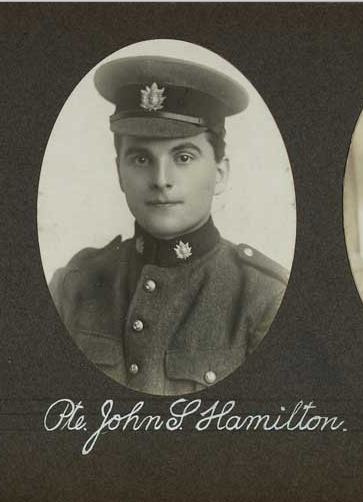 Photo of JOHN STEEN HAMILTON– In memory of the employees of the T. Eaton Company that went to war and did not come home.  Submitted for the project, Operation: Picture Me