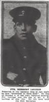 Photo of HERBERT LEVINGS– From the Daily Colonist of July 10, 1917. Image taken from web address of https://archive.org/stream/dailycolonist59y182uvic#page/n0/mode/1up