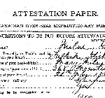 Attestation Papers– Attestation Papers (Source Library and Archives Canada.  Soldiers of the First World War)