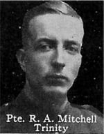 Photo of Richard Mitchell– From: The Varsity Magazine Supplement published by The Students Administrative Council, University of Toronto 1916.  