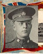 """Photo of Wifrid Pulfer– Caption (pg. 382):  Men of Peel Killed During the Great War.  Author - William Perkins Bull. """"From Brock to Currie: the military development and exploits of Canadians in general and of the men of Peel in particular, 1791 to 1930.""""  Toronto, 1935."""