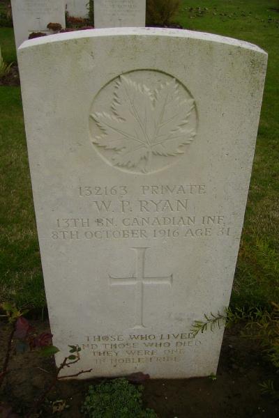 Grave marker– Grave marker - Adanac Military Cemetery … photo courtesy of Marg Liessens