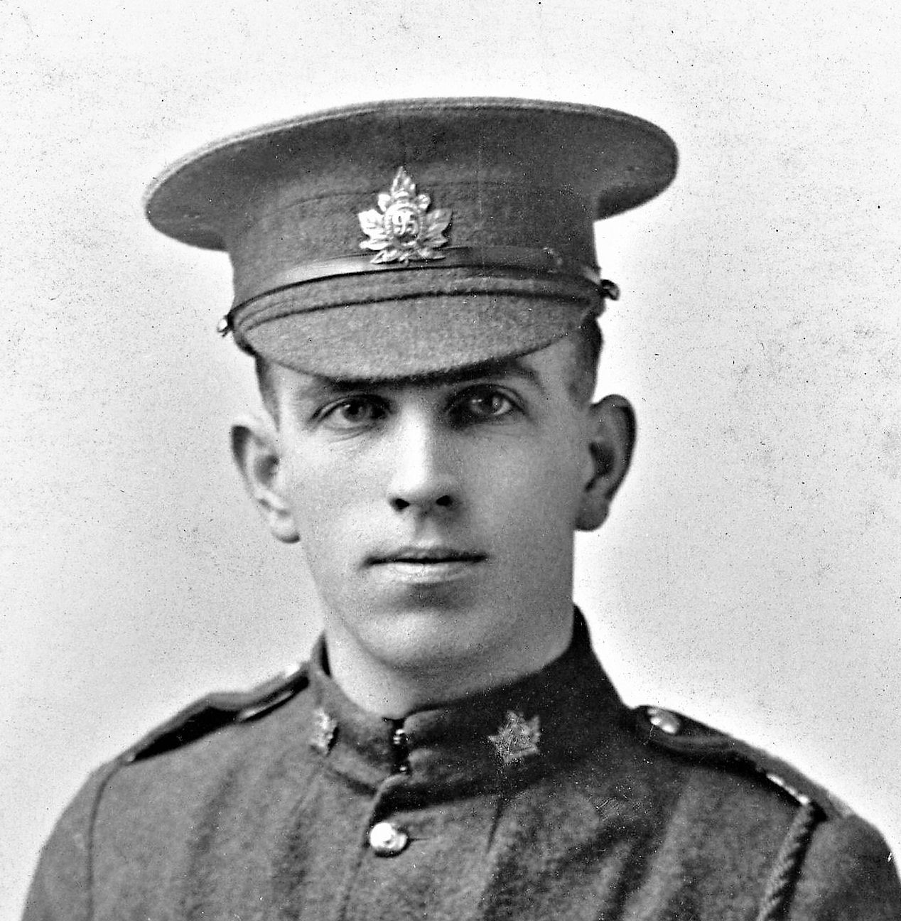 Photo of Robert Salter– Robert Salter from a photograph he sent to his parents in England.   Sadly his elder brother Private William, 30962 serving with the 2nd Battalion, Northamptonshire Regiment was killed in action on 25th March 1918 also in Flanders.