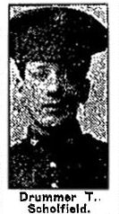 Newspaper Clipping– Pte. William Schofield enlisted in the 83rd Battalion C.E.F. in Toronto on February 14th, 1916.  His brother John Schofield, 669762, enlisted with him on the same day.