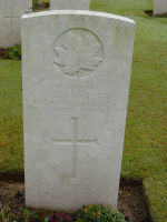Grave Marker– Victor Edward Tuxford Adanac Military Cemetery, Miraumont, Somme, France (photo approved for use Maple Leaf Legacy Project)