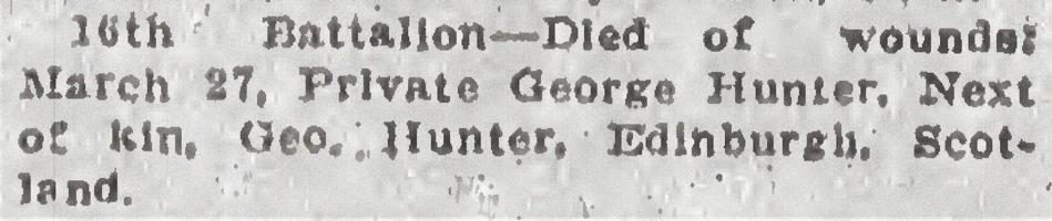 Newspaper clipping– From the Daily Colonist of April 2, 1915. Image taken from web address of https://archive.org/stream/dailycolonist57y97uvic#mode/1up