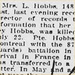 Press Clipping– source: Hamilton Spectator; August 2, 1918, page 1