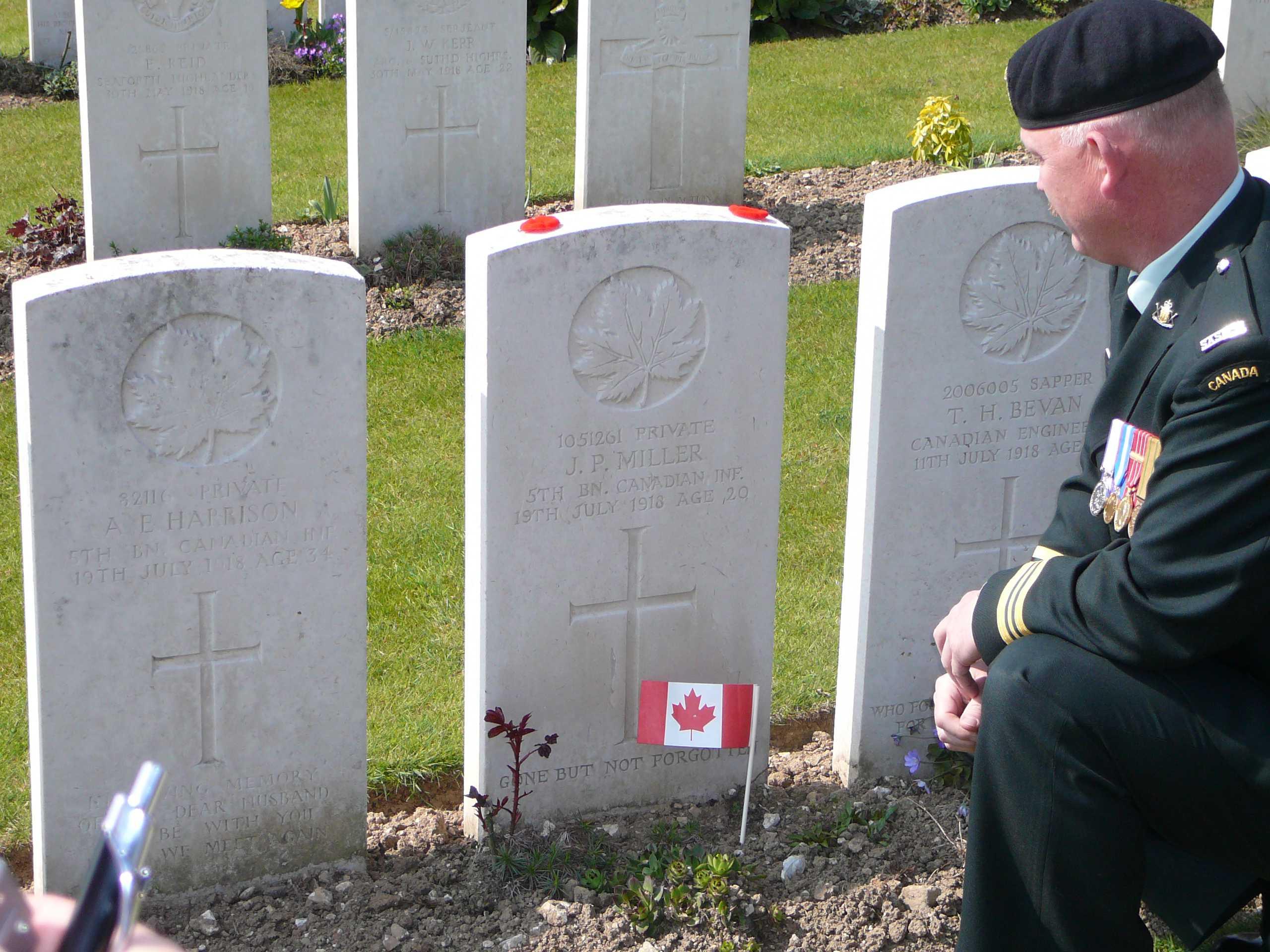 Grave Marker– Taken while visiting the grave April 2007
