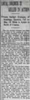 Newspaper clipping– From the Daily Colonist of June 15, 1915. Image taken from web address of https://archive.org/stream/dailycolonist57y160uvic#mode/1up