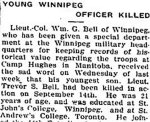 Newspaper Clipping– From the Perth Courier for 29 September 1916.