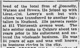 Newspaper clipping– part 2 From the Calgary Herald. Submitted for the project, Operation: Picture Me