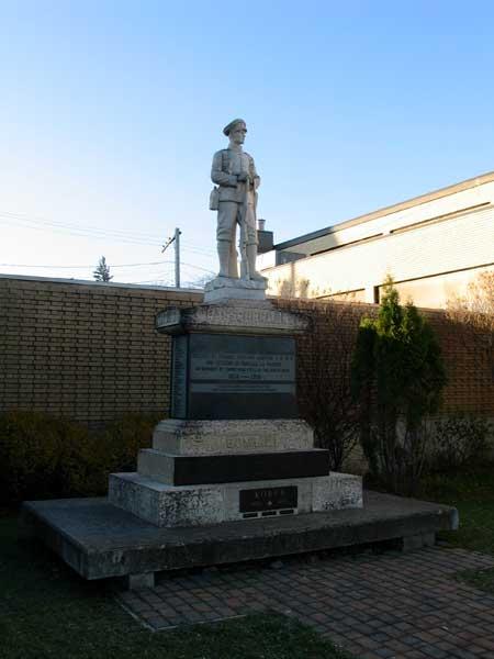 Monument aux morts – Portage la Prairie, Manitoba