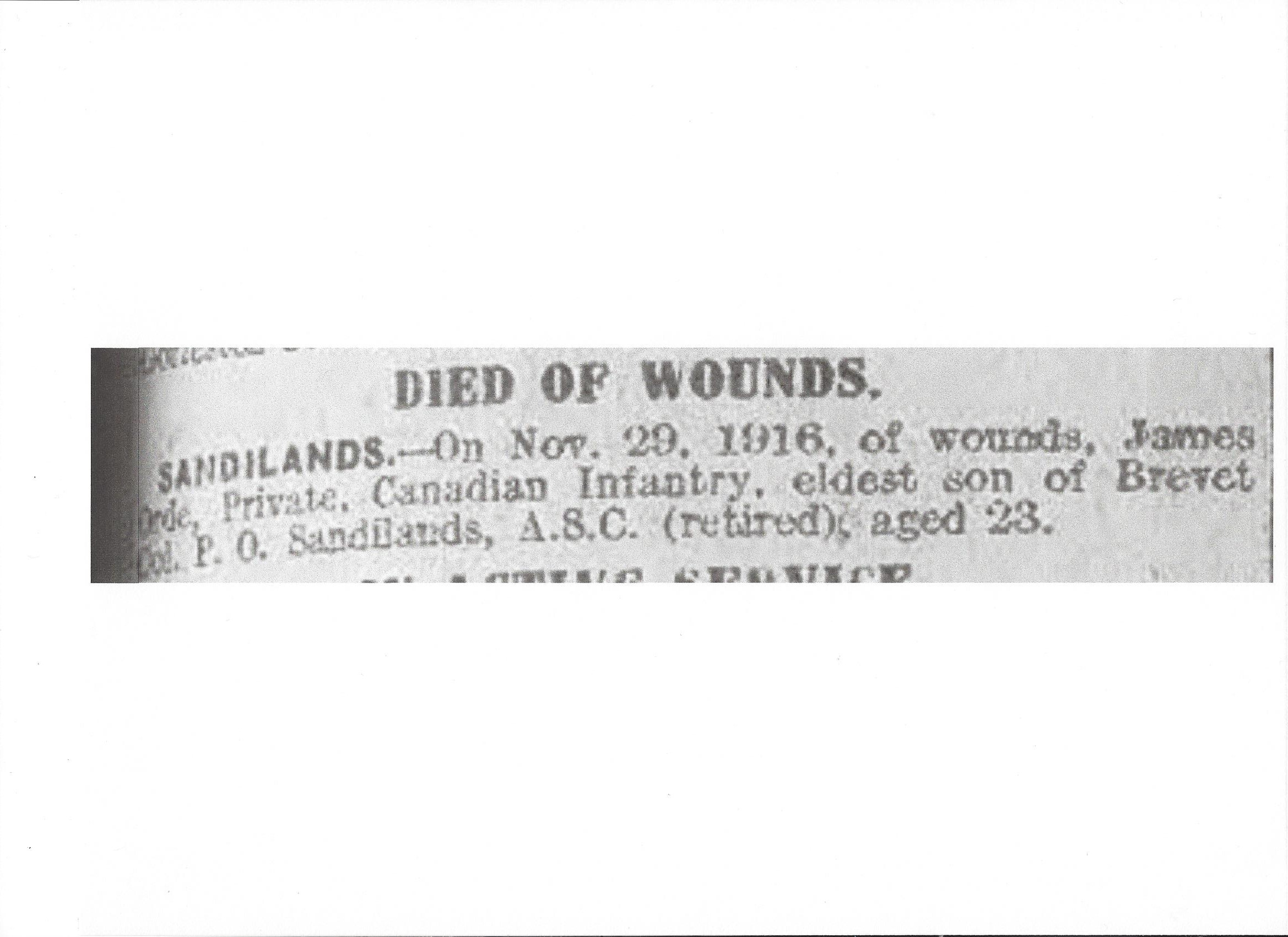 Newspaper Clipping– Newspaper clipping from Daily Telegraph of January 25, 1917. Image taken from web address of http://www.telegraph.co.uk/news/ww1-archive/12214131/Daily-Telegraph-January-25-1917.html