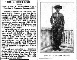 Newspaper clipping– Orillia Times, 25 Mar 1915