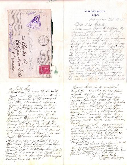 Death Notice– From Major MacRae