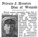 Press clipping– Appeared in the Winnipeg Evening Tribune on August 12th, 1915.