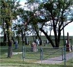 Cemetery– Photo of Bru Lutheran Cemetery, Glenboro, Manitoba where Nursing Sister Frederickson is buried. Courtesy of Craig B.Cameron, September 2005.