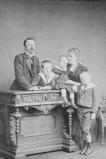 Family Photo– Prince Gaston, Count of d'Eu and Isabelle de Gragance, Imperial Princes of Brazil with their three sons, Prince Pierre, Prince Luis and Prince Antoine.