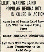 Newspaper Clipping– This newspaper article was published in the Regina Leader on October 13th, 1917.  In honoured memory.