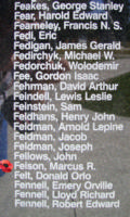 Memorial– Pilot Officer Marcus Richards Felsen is also commemorated on the Bomber Command Memorial Wall in Nanton, AB … photo courtesy of Marg Liessens