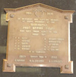 Memorial– J. Gibson, a Postal Clerk in the Vancouver Post Office, is remembered on a memorial plaque in the Retail Lobby of the Vancouver Main Post Office, 349 West Georgia, Vancouver BC.