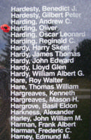 Memorial– Flight Sergeant Oliver Harding is also commemorated on the Bomber Command Memorial Wall in Nanton, AB … photo courtesy of Marg Liessens
