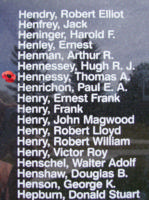 Memorial– Pilot Officer Thomas Alban Hennessy is also commemorated on the Bomber Command Memorial Wall in Nanton, AB … photo courtesy of Marg Liessens
