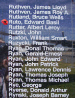 Memorial– Flying Officer Edward Basil Ruto is also commemorated on the Bomber Command Memorial Wall in Nanton, AB … photo courtesy of Marg Liessens