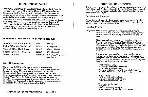Service Booklet Page 2 & 3
