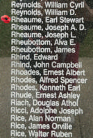Memorial– Flight Sergeant Earl Stewart Rheaume is also commemorated on the Bomber Command Memorial Wall in Nanton, AB … photo courtesy of Marg Liessens