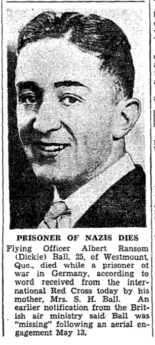 Newspaper clipping– From the Toronto Star July 1940. Submitted for the project Operation Picture Me