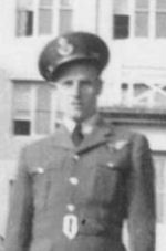 Photo of Albert John Beck– Flying Officer John Beck at RAF Wickenby, Lincoln, Lincolnshire, England 1944