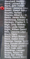 Memorial– Flying Officer Laurence Allen Blaney is also commemorated on the Bomber Command Memorial Wall in Nanton, AB … photo courtesy of Marg Liessens