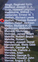 Memorial– Flying Officer Thomas Roland Mellish is also commemorated on the Bomber Command Memorial Wall in Nanton, AB … photo courtesy of Marg Liessens