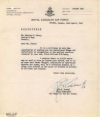 Letter– Letter to parents accompanying P/O Nelson's operation wings. Courtesy of bother Keith Perry.