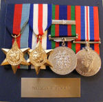 Medals– On display at Seeley's Bay Royal Canadian Legion Branch 491 donated by brother, Keith.